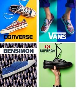 Les nouvelles collections Converse, Vans, Bensimon, et Supergra à découvrir