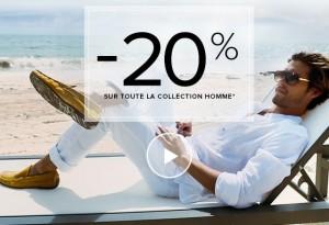 bon plan chaussures San Marina -20% sur la collection homme