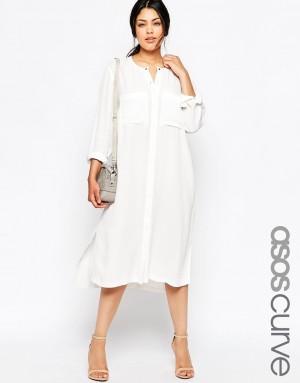 ASOS Curve   ASOS MATERNITY – Robe chemise mi-longue chez ASOS