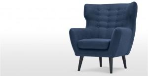 Kubrick, un fauteuil bergère, bleu cobalt   made.com