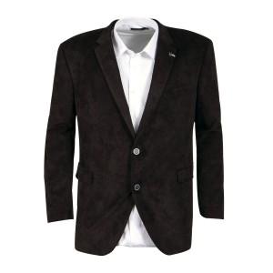 Veste en velours noire: grande taille du 60 au 72 – Digel