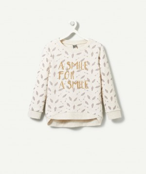 LE SWEAT HERON ECRU CHINE, Pull – Cardigan, mode enfant | Tape à l'œil