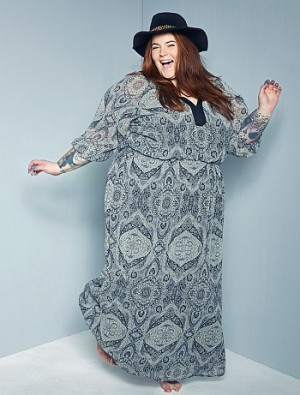 Robe longue imprimé fantaisie Grande taille femme – Kiabi – 39,00€