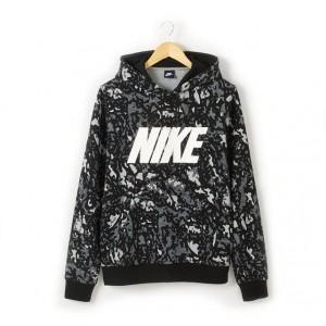 Sweat imprimé à capuche Nike | La Redoute