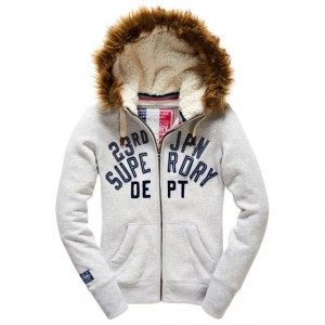 Sweat nordic artic ziphood superdry capuche sherpa ice marl Superdry