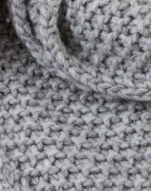 Echarpe grise à paillettes Cléopatre – 123