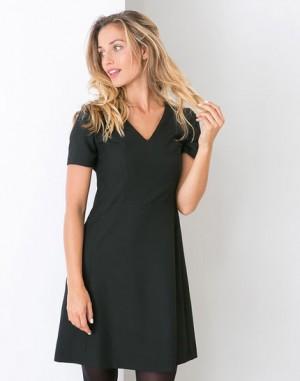 Robe noire trapèze Dalys – 123