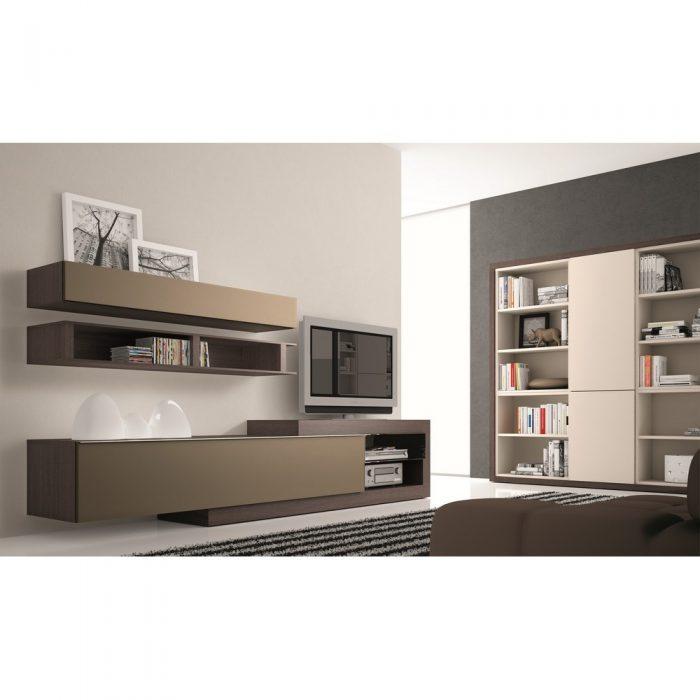 Meuble Tv Design Taupe Neva Editions Atylia