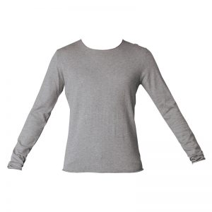 Pull coton soie gris finition roulottées Ddome – Selected Homme