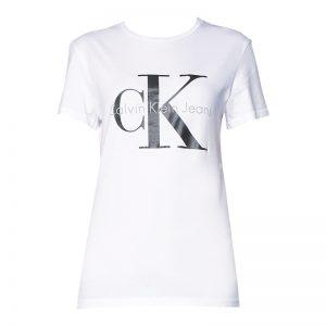 T-shirt blanc imprimé logo – Calvin Klein