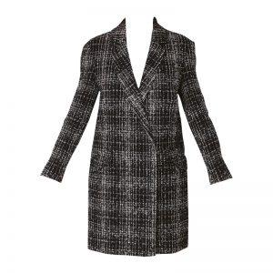 Manteau croisé bouclette noir/blanc Dadouce – Naf Naf