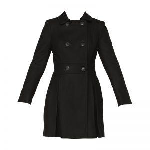 Caban laine noir plis Ajolie – Naf Naf