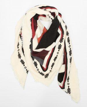 Echarpe carrée ethnique Femme -30% – Couleur rouge – Taille 00 -PIMKIE- LA MODE FEMME