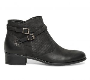Boots boucles cuir noir  Eram