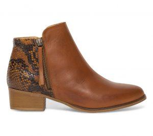 Boots effet python cuir camel  Eram