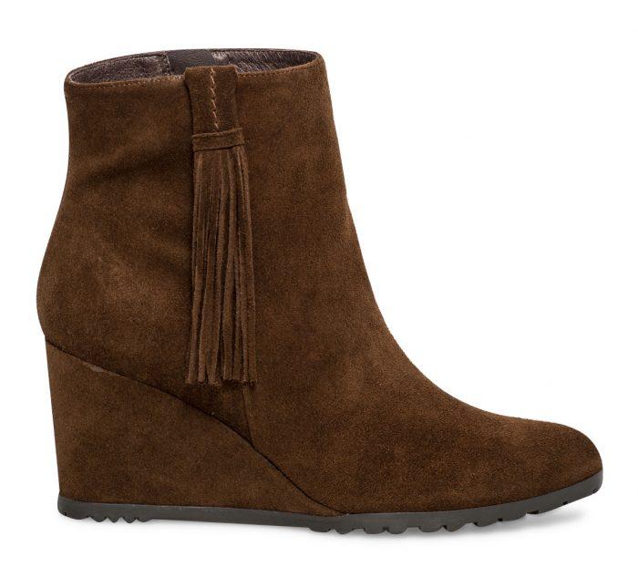 1665586830ded9 Boots croûte de cuir frange marron Eram