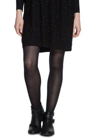 Collant opaque uni Noir Polyamide – Femme Taille L – Cache Cache Noir Cache Cache