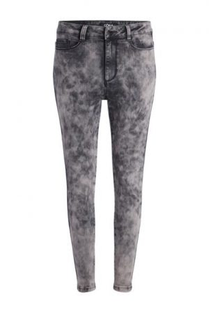 Jean slim délavage neige Oôra Gris Elasthanne – Femme Taille 34 – Cache Cache Gris Oora