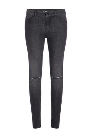 Jean skinny laser cut Oôra Noir Coton – Femme Taille 34 – Cache Cache Noir Oora