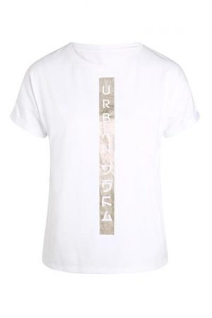 T-shirt inscriptions Oôra Blanc Polyester – Femme Taille 0 – Cache Cache Blanc Oora