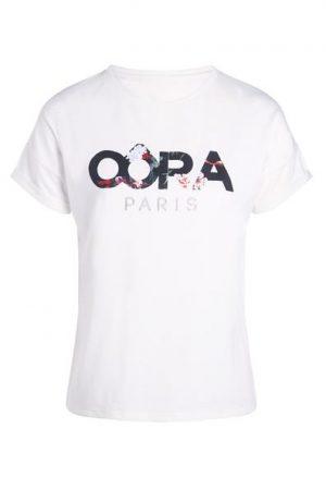 T-shirt imprimé floral Oôra Blanc Coton – Femme Taille 0 – Cache Cache Blanc Oora