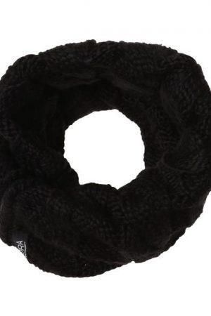 Snood zippé maille Oôra Noir Acrylique – Femme Taille T.U – Cache Cache Noir Oora