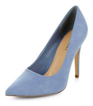 Escarpins pointus bleu pâle – New Look