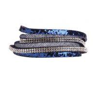 Bracelet multi rangs brillant Bleu Plastique - Femme Taille TU - Bréal