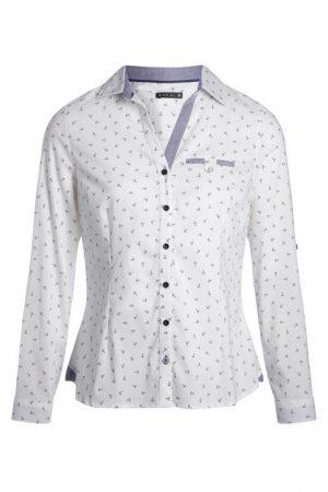 Chemise imprimé encre Beige Coton – Femme Taille 40 – Bréal