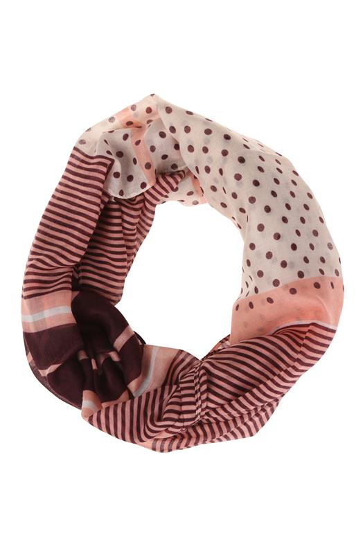 Snood rayures et pois Rouge Polyester - Femme Taille TU - Bréal 63cc2a6c52b