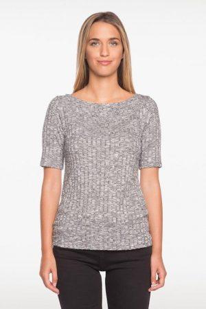 T-shirt fin avec clous Gris Viscose – Femme Taille 2 – Bréal