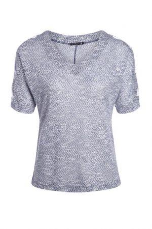 T-shirt manches courtes chiné Bleu Polyester – Femme Taille 1 – Bréal