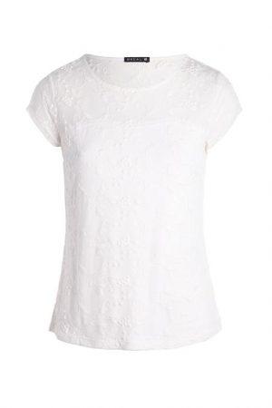 T-shirt avec broderies Beige Elasthanne – Femme Taille 2 – Bréal