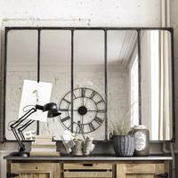 Miroir indus en m tal l 180 cm cargo verri re maisons du monde Miroir cargo maison du monde