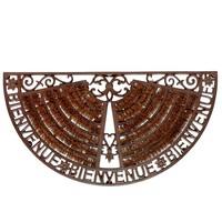 Paillasson en fer forgé marron 37 x 70 cm WELCOME Maisons du monde