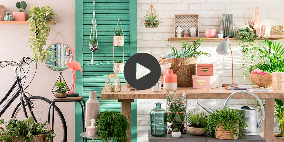 video nouvelle collection maisons du monde tendance urban garden. Black Bedroom Furniture Sets. Home Design Ideas