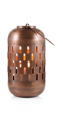 Lanterne en métal à anse (hauteur 28 cm) Esprit
