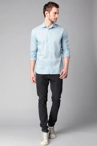 Chemise manches longues imprimée carré Dominic - Pepe Jeans