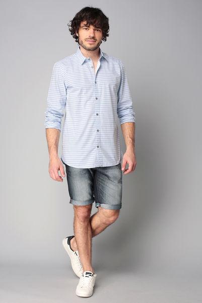 Chemise rayée bleue manches longues - Tom Tailor