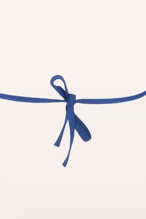 Maillot de bain triangle bleu perforé Monoprix Femme