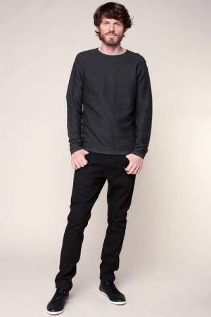 Pull côtelé gris anthracite – Tom Tailor