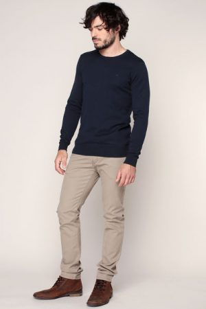 Pull fin coton marine – Tom Tailor