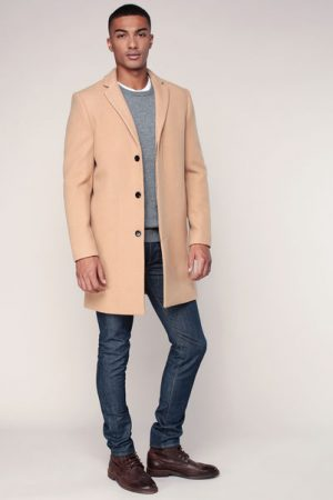 Manteau laine camel Brook – Selected Homme