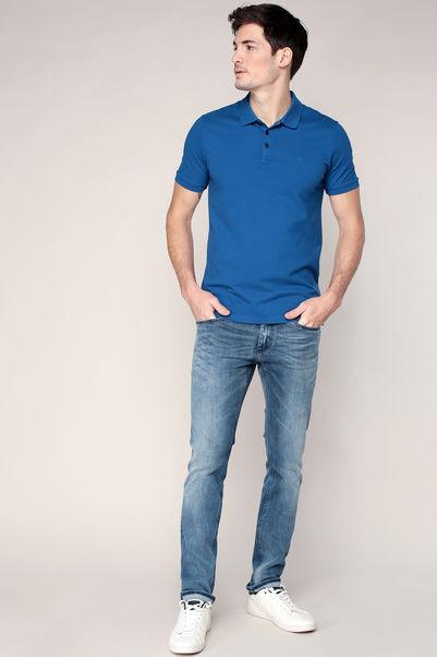 Polo bleu logo brodé bleu – Calvin Klein