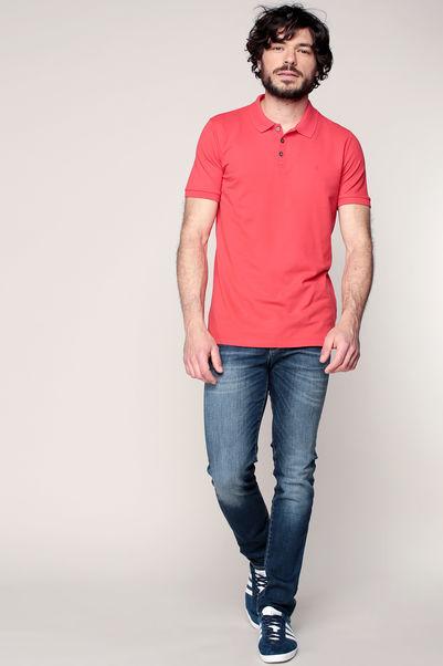 Polo rouge logo brodé ton sur ton – Calvin Klein