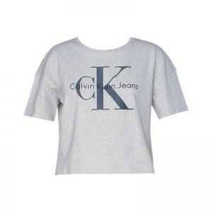 T-shirt gris clair imprimé logo – Calvin Klein