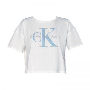 T-shirt écru imprimé logo – Calvin Klein