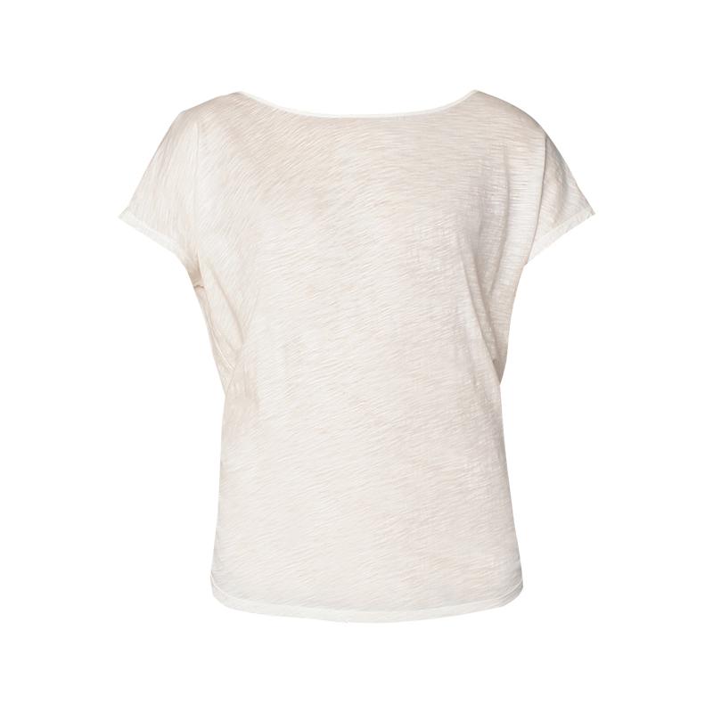 503388f71 T-shirt écru chiné dos décolleté à nouer Cilea - Ba&sh