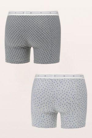 Lot de 2 boxers gris et anthracite imprimé graphique marine Combo – Scotch & soda