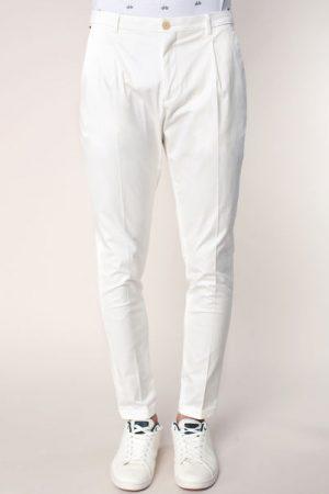 Pantalon slim écru léger à pinces Blake – Scotch & soda